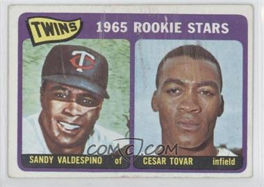 1965 Topps #201 - Sandy Valdespino, Cesar Tovar