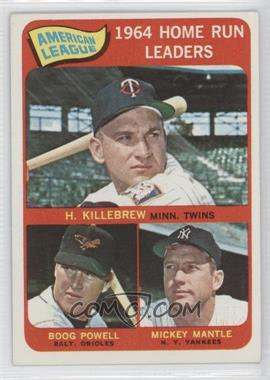 1965 Topps #3 - American League Home Run Leaders (Harmon Killebrew, Boog Powell, Mickey Mantle)