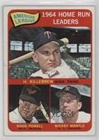 American League Home Run Leaders (Harmon Killebrew, Boog Powell, Mickey Mantle)