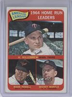 American League Home Run Leaders (Harmon Killebrew, Boog Powell, Mickey Mantle)