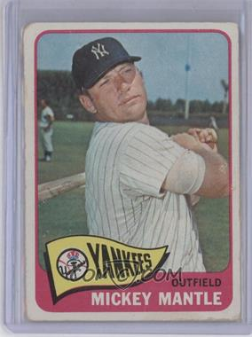 1965 Topps #350 - Mickey Mantle [Poor to Fair]