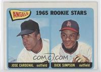 Angels 1965 Rookie Stars (Jose Cardenal, Dick Simpson)