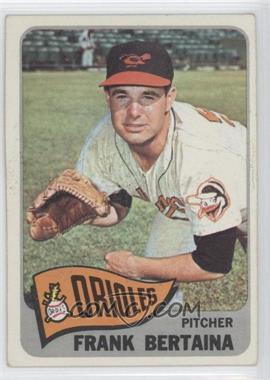 1965 Topps #396 - Frank Bertaina
