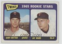 Twins 1965 Rookie Stars (Gary Dotter, Jay Ward) [Good to VG‑EX]