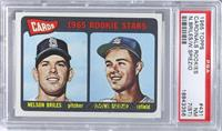 Cardinals 1965 Rookie Stars (Nelson Briles, Wayne Spiezio) [PSA7(ST…