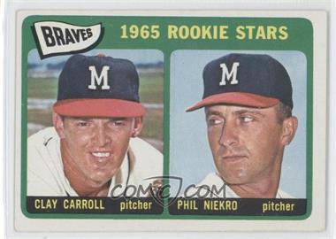 1965 Topps #461 - Braves 1965 Rookie Stars (Clay Carroll, Phil Niekro) [GoodtoVG‑EX]