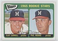 Braves 1965 Rookie Stars (Clay Carroll, Phil Niekro)