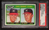 Braves Rookie Stars (Clay Carroll, Phil Niekro) [PSA 7]