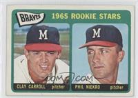 Braves Rookie Stars (Clay Carroll, Phil Niekro)