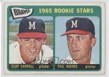 1965 Topps #461 - Braves Rookie Stars (Clay Carroll, Phil Niekro) [Good to VG‑EX]