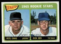 Senators 1965 Rookie Stars (Pete Craig, Dick Nen) [VGEX]