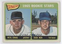 Senators 1965 Rookie Stars (Pete Craig, Dick Nen) [GoodtoVG‑E…