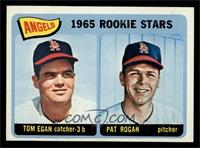 Angels 1965 Rookie Stars (Tom Egan, Pat Rogan) [EX]