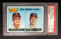 Angels 1965 Rookie Stars (Tom Egan, Pat Rogan) [PSA 8]