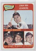 Brooks Robinson, Mickey Mantle, Harmon Killebrew