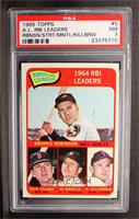 Brooks Robinson, Mickey Mantle, Harmon Killebrew [PSA 7]