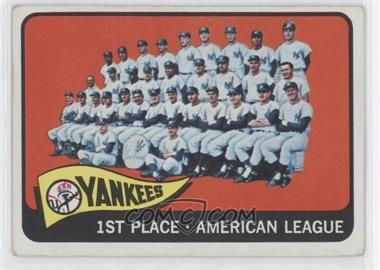 1965 Topps #513 - New York Yankees Team
