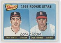 Angels 1965 Rookie Stars (Paul Schaal, Jackie Warner) [Good to VG&#82…