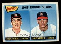 Angels 1965 Rookie Stars (Paul Schaal, Jackie Warner) [EX MT]
