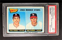 Angels 1965 Rookie Stars (Paul Schaal, Jackie Warner) [PSA 7]