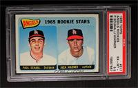 Angels 1965 Rookie Stars (Paul Schaal, Jackie Warner) [PSA 6.5]