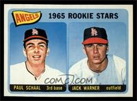 Angels 1965 Rookie Stars (Paul Schaal, Jackie Warner) [NM]