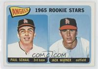 Angels 1965 Rookie Stars (Paul Schaal, Jackie Warner)