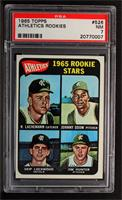 1965 Rookie Stars (Rene Lachemann, Johnny Odom, Skip Lockwood, Jim Hunter) [PSA…