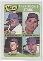 Mets Rookie Stars (Dan Napoleon, Ron Swoboda, Jim Bethke, Tug McGraw) [Good&nbs…