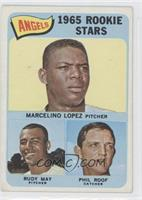 Marcelino Lopez, Rudy May, Phil Roof