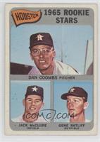 Houston 1965 Rookie Stars (Danny Coombs, Jack McClure, Gene Ratliff)