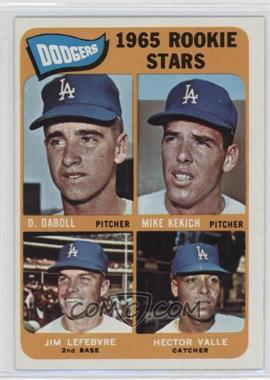 1965 Topps #561 - Dodgers 1965 Rookie Stars (Dennis Daboll, Mike Kekich, Jim Lefebvre, Hector Valle)