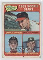 American League 1965 Rookie Stars (Darold Knowles, Richie Scheinblum, Don Busch…