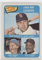 National League 1964 RBI Leaders (Ken Boyer, Ron Santo, Willie Mays) [Good&nbsp…