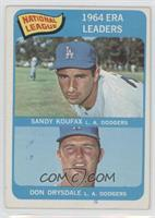 NL ERA Leaders (Sandy Koufax, Don Drysdale) [Good to VG‑EX]