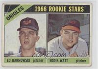 Orioles Rookie Stars (Ed Barnowski, Eddie Watt) [Poor]