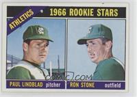 Athletics Rookies (Paul Lindblad, Ron Stone) [GoodtoVG‑EX]