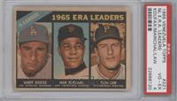 1965 NL ERA Leaders (Sandy Koufax, Juan Marichal, Vern Law) [PSA 4]