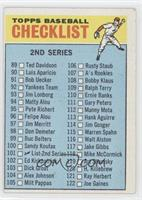 2nd Series Checklist (Error: 115 is Warren Spahn) [Good to VG‑E…