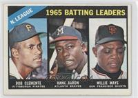 NL Batting Leaders (Bob Clemente, Hank Aaron, Willie Mays) [PoortoF…