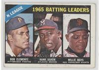NL Batting Leaders (Bob Clemente, Hank Aaron, Willie Mays) [Poor]