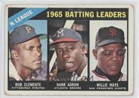 NL Batting Leaders (Bob Clemente, Hank Aaron, Willie Mays) [Good to V…