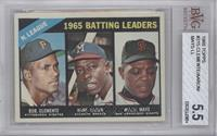 NL Batting Leaders (Bob Clemente, Hank Aaron, Willie Mays) [BVG 5.5]