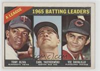 AL Batting Leaders (Tony Oliva, Carl Yastrzemski, Vic Davalillo) [Good to&…