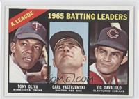 AL Batting Leaders (Tony Oliva, Carl Yastrzemski, Vic Davalillo)