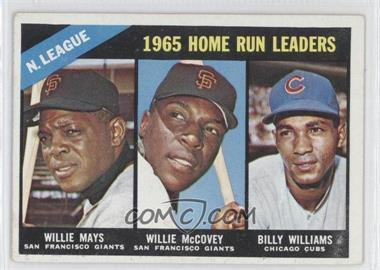 1966 Topps #217 - Willie McCovey, Willie Mays, Billy Williams [Good to VG‑EX]