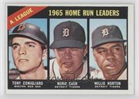 Tony Conigliaro, Norm Cash, Willie Horton