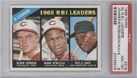 Deron Johnson, Frank Robinson, Willie Mays [PSA 8]