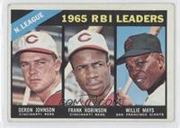N. League RBI Leaders (Deron Johnson, Frank Robinson, Willie Mays)
