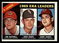 AL ERA Leaders (Sam McDowell, Eddie Fisher, Sonny Siebert) [EXMT]